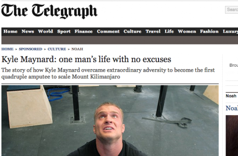 Kyle Maynard: One man's life with no excuses
