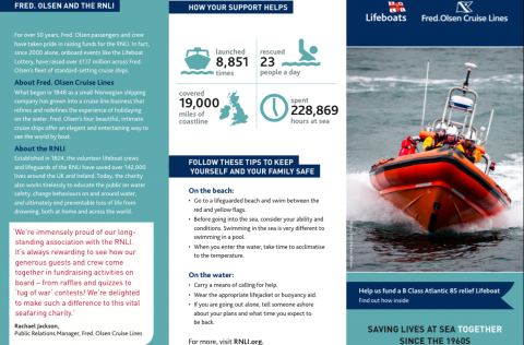 Fred. Olsen and the RNLI
